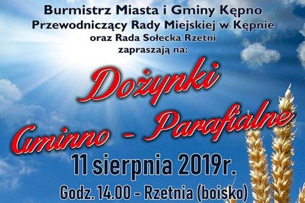 Dożynki gminno-parafialne w Rzetni