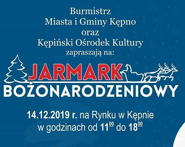 Zaproszenie – Jarmark Bożonrodzeniowy 2019