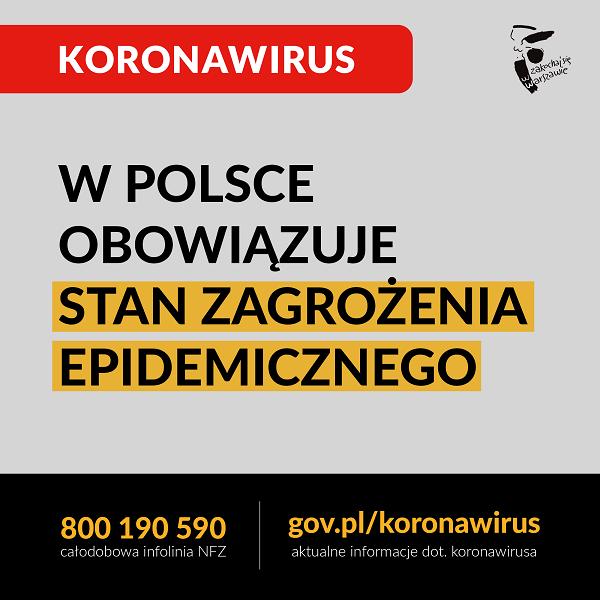Koronawirus – WAŻNE!!!
