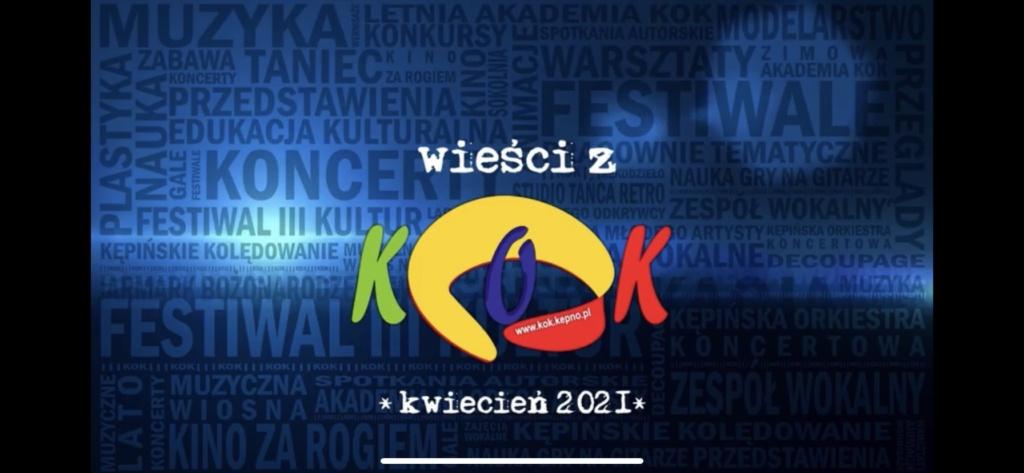 Wieści z KOK – kwiecień 2021